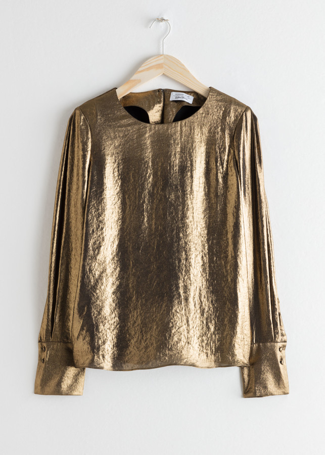 Metallic Satin Blouse