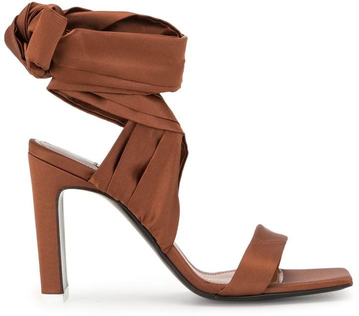 Wrap-Around Ankle Tie Sandals