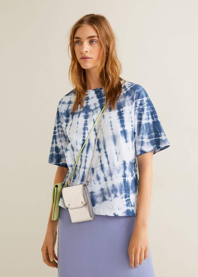 Tie-dye printed t-shirt