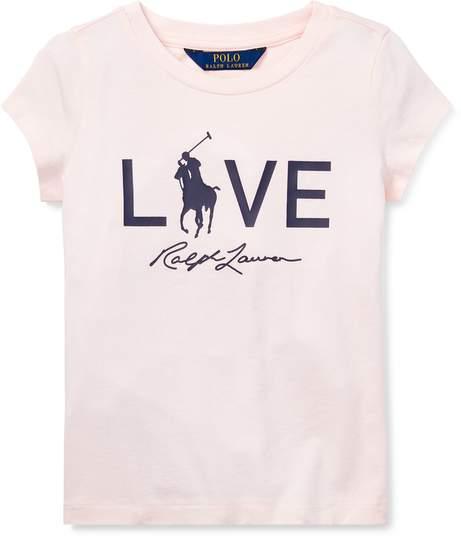 Ralph Lauren Kids Pink Pony Live Love T-Shirt