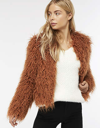 Monsoon Margaret Short Faux Fur Coat