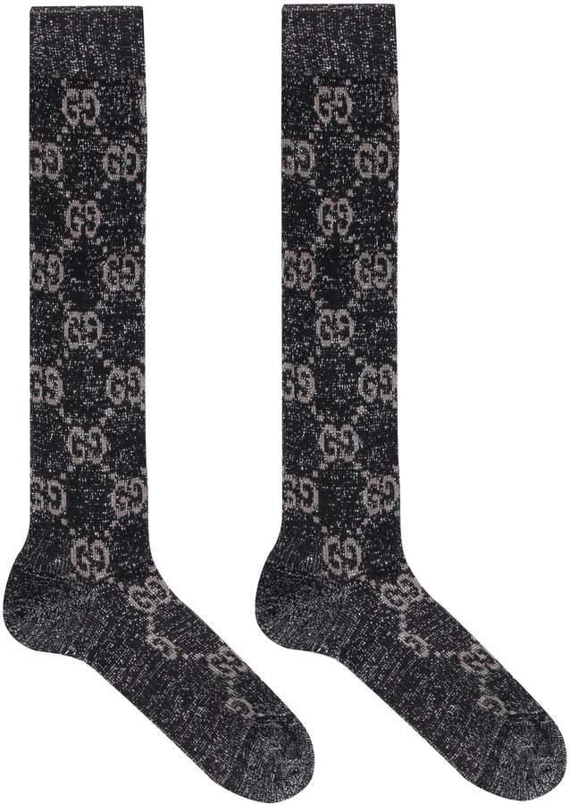 Gucci Jacquard Logo Cotton Blend Socks