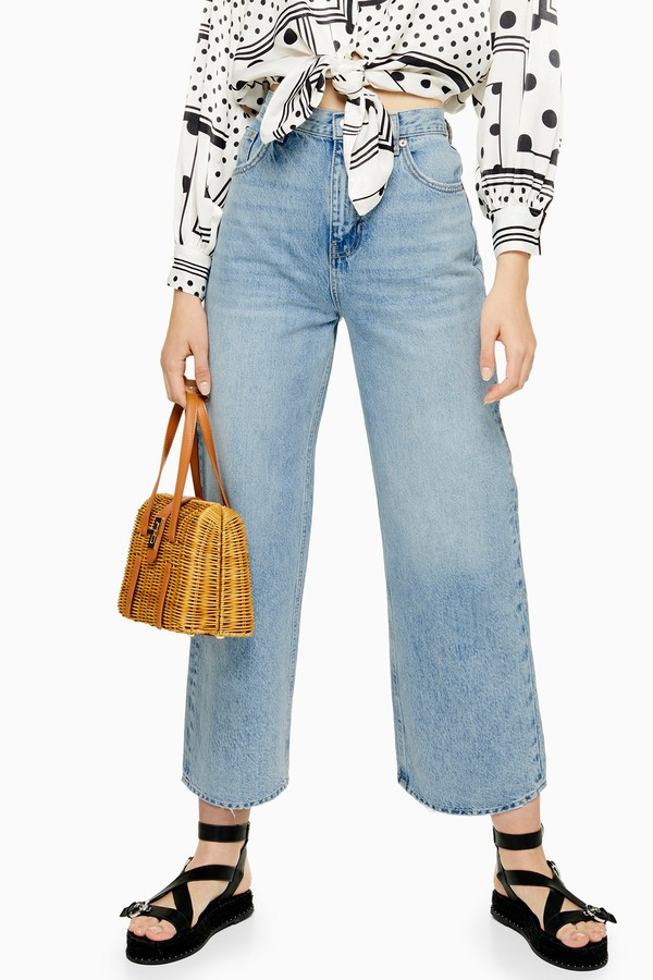 Womens Bleach New Crop Jeans - Bleach Stone