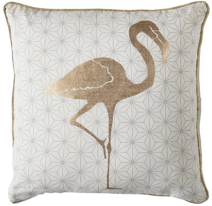 Gallery Golden Geo Flamingo Cushion