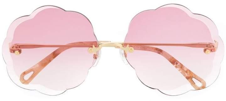 Chloé Eyewear scalloped sunglasses