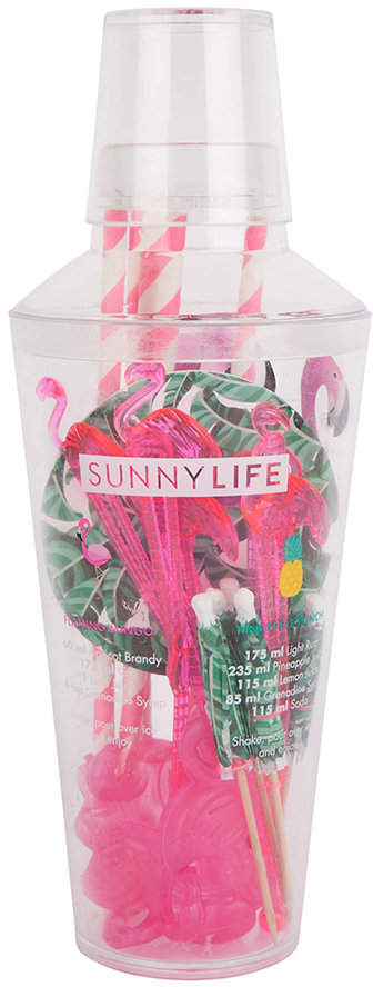 Sunnylife - Tropical Cocktail Kit - Flamingo & Palm Leaves