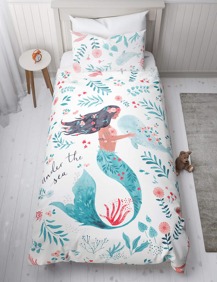 Marks and Spencer Mermaid Reversible Bedding Set