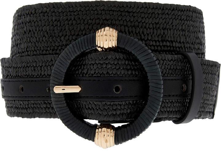 Accessorize Round Buckle Stretchy Waist Belt