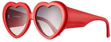 Balenciaga Heart-Shaped Acetate Sunglasses