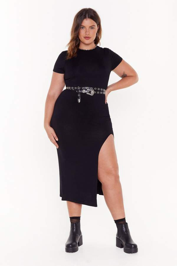 Nasty Gal Womens Maxed Out Plus Maxi Dress - Black - 18