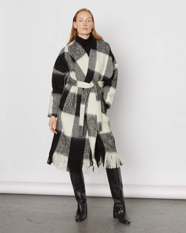 Jigsaw Blanket Check Coat