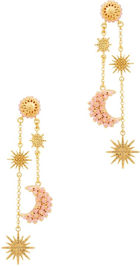 Soru Jewellery Luna Moon And Star Drop Earrings