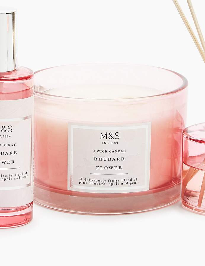 Marks and Spencer Rhubarb 3 Wick Candle
