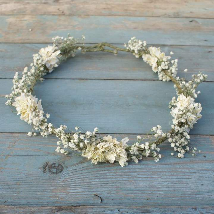 The Artisan Dried Flower Company Boho Purity Dried Flower Crown