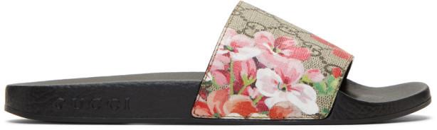 Gucci Multicolor GG Flora Slides