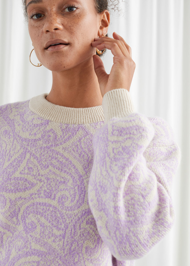 Paisley Jacquard Knitted Sweater