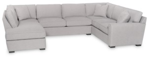 furniture callington 3 pc fabric feather down chaise sectional sofa created for macy s