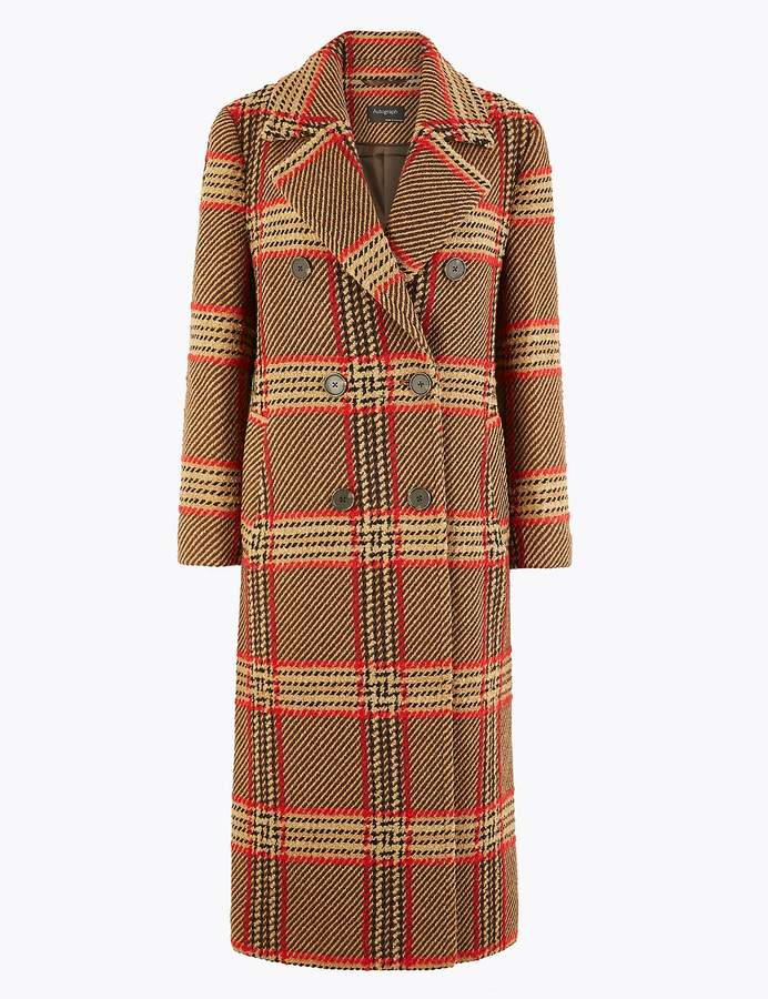 AutographMarks and Spencer Checked Boyfriend Coat