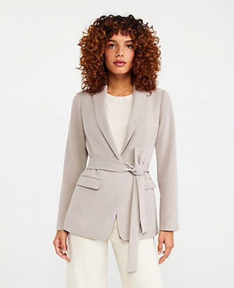 Ann Taylor - belted blazer   hot Fall 2020 fashion blazer
