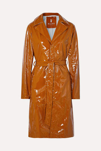 Rains - Glossed-pu Trench Coat - Tan