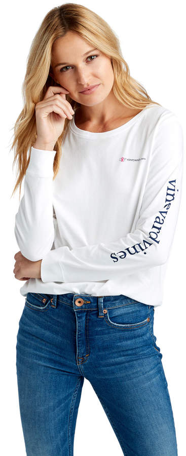 Womens Long-Sleeve Breast Cancer Awareness Logo Tee