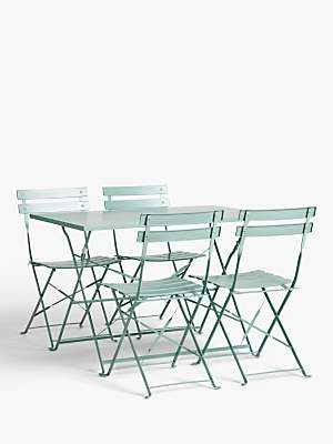 John Lewis & Partners Camden Garden 4-Seat Table & Chairs Set