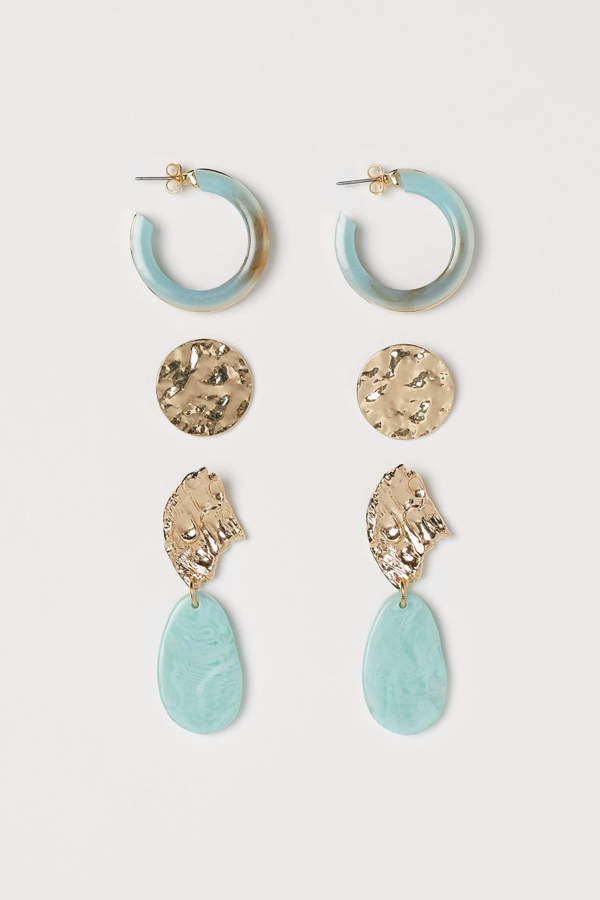 H&M - 3 Pairs Earrings - Gold
