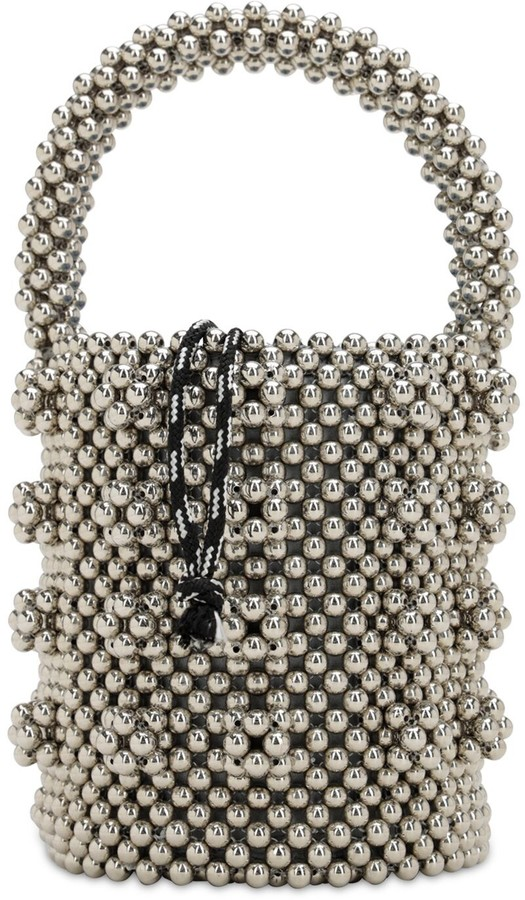Poppy Beaded Top Handle Bag