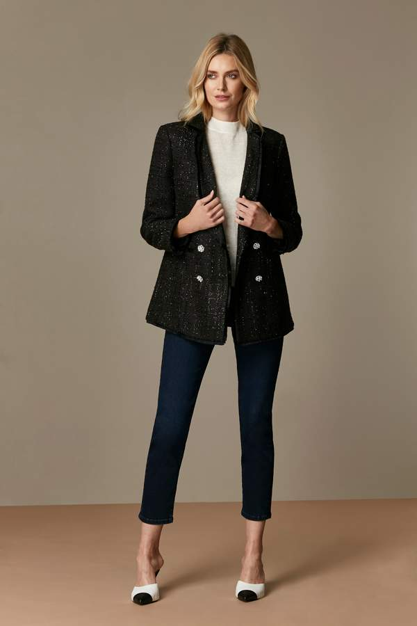 WallisWallis Black Boucle Blazer