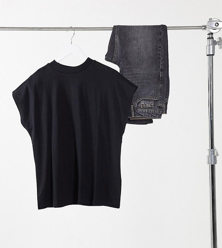 Weekday Prime organic cotton t-shirt in black