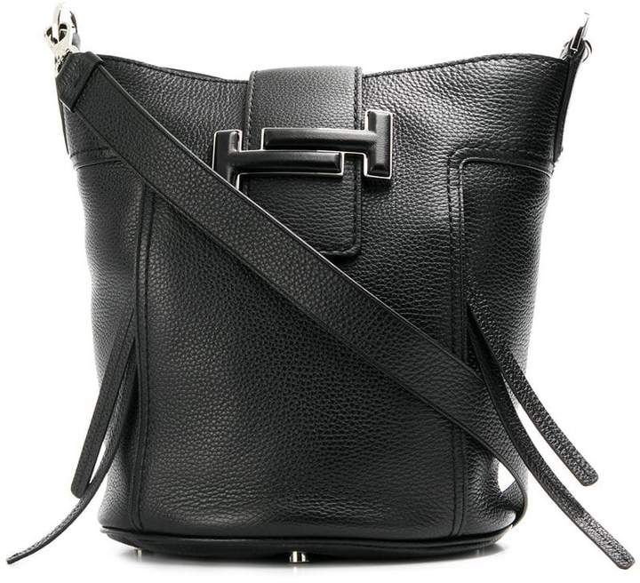 Double T small bucket bag