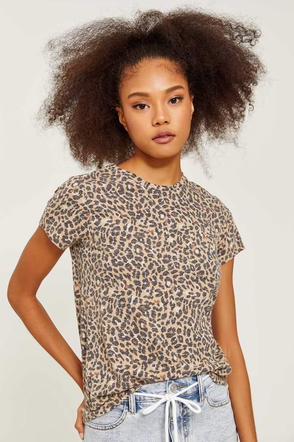 Ardene Faded Leopard Print Long Tee