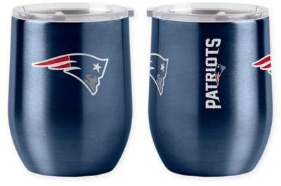 NFL New England Patriots 16 oz. Stainless Steel Curved Ultra Tumbler Wine Glass