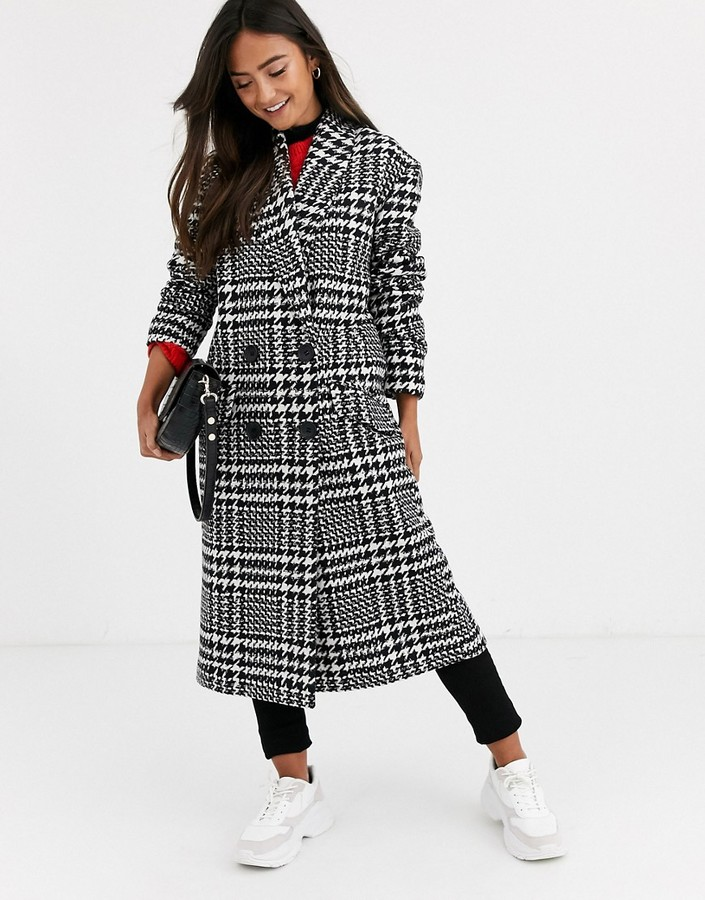 Asos Design ASOS DESIGN houndstooth oversized coat