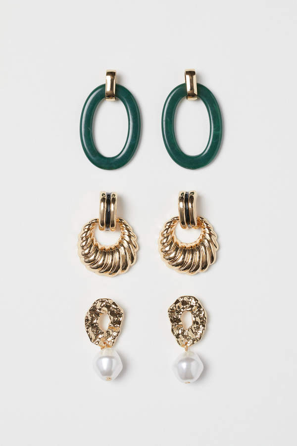 H&M 3 pairs earrings