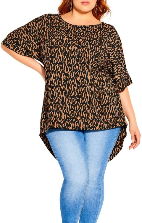 Nordstrom - high low printed top   hot Fall 2020 fashion top