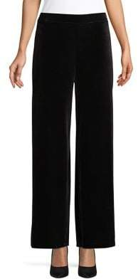 Design Lab Wide-Leg Velvet Pants