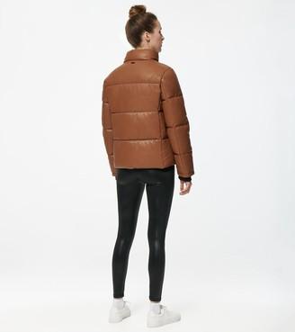 cognac faux leather jacket shop the