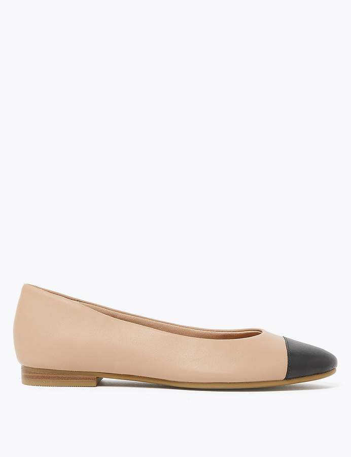 M&S CollectionMarks and Spencer Leather Almond Toe Pumps