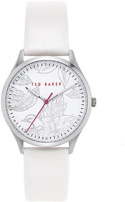 Ted Baker Ladies white leather strap watch