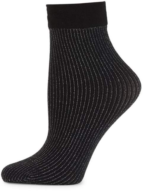 Dora Metallic Stripe Crew Socks