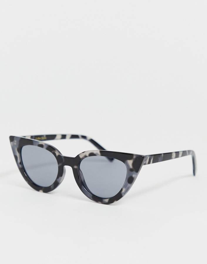 & Other Stories cat eye sunglasses in grey tortoise