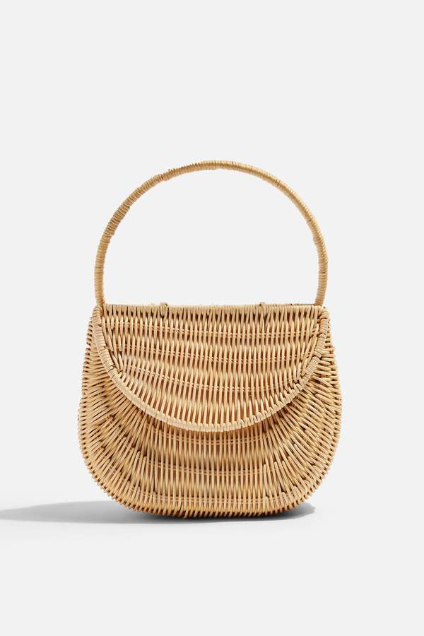 SPLIT Wicker Straw Mini Grab Bag