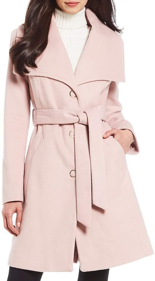 Anne Klein Belted Wrap Coat