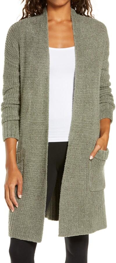 Winter loungewear - olive green cardigan