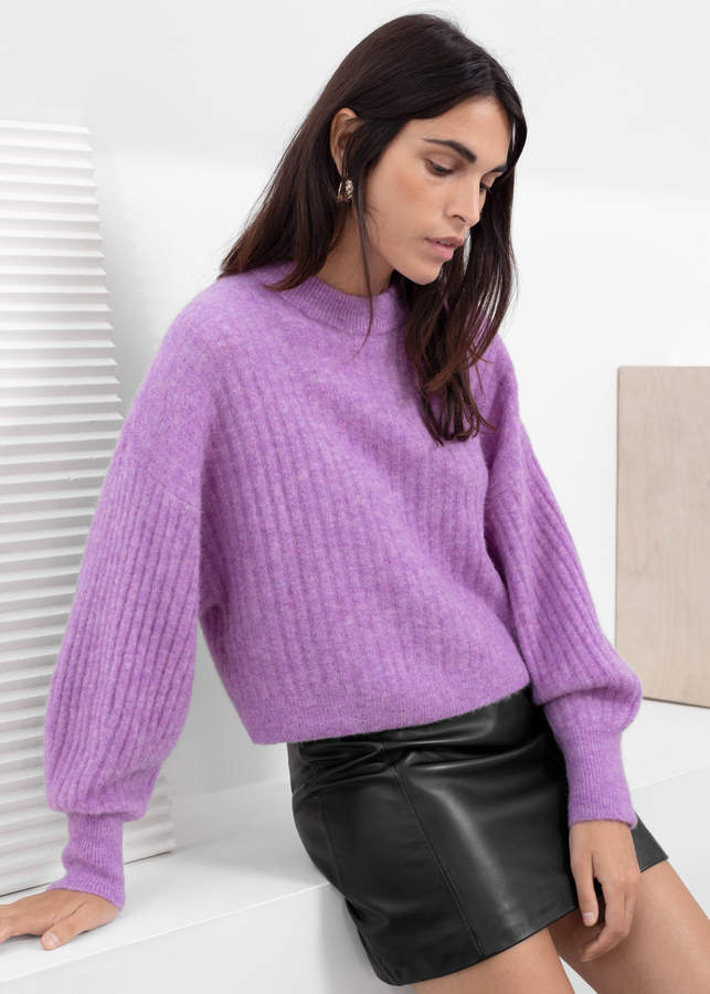 Alpaca Blend Knit Sweater