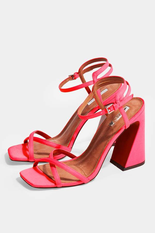 Topshop Womens Redemption Pink Sandals - Pink