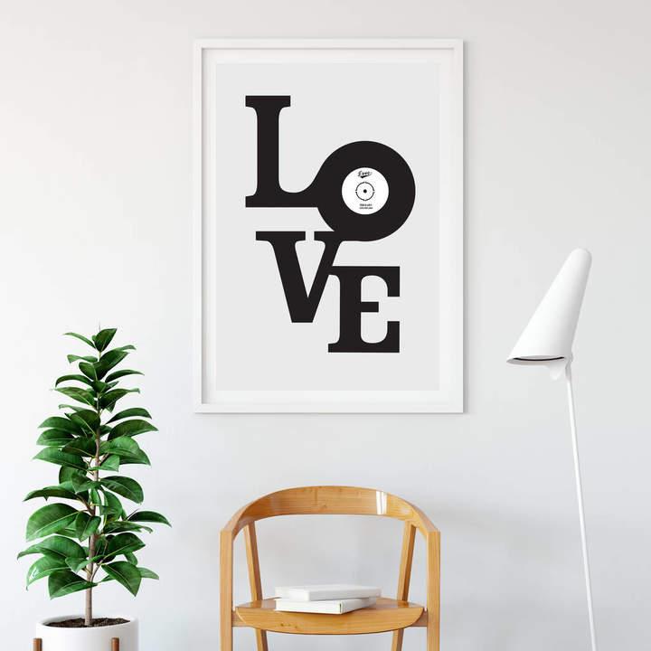 Allihopa Personalised Vinyl Love Print
