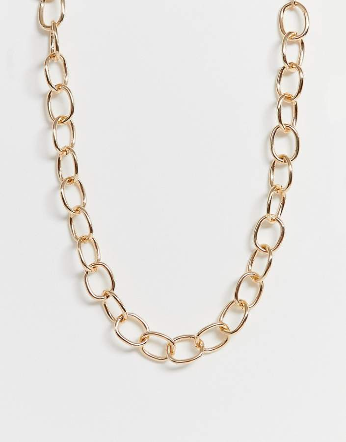 Weekday chunky chain necklace in gold