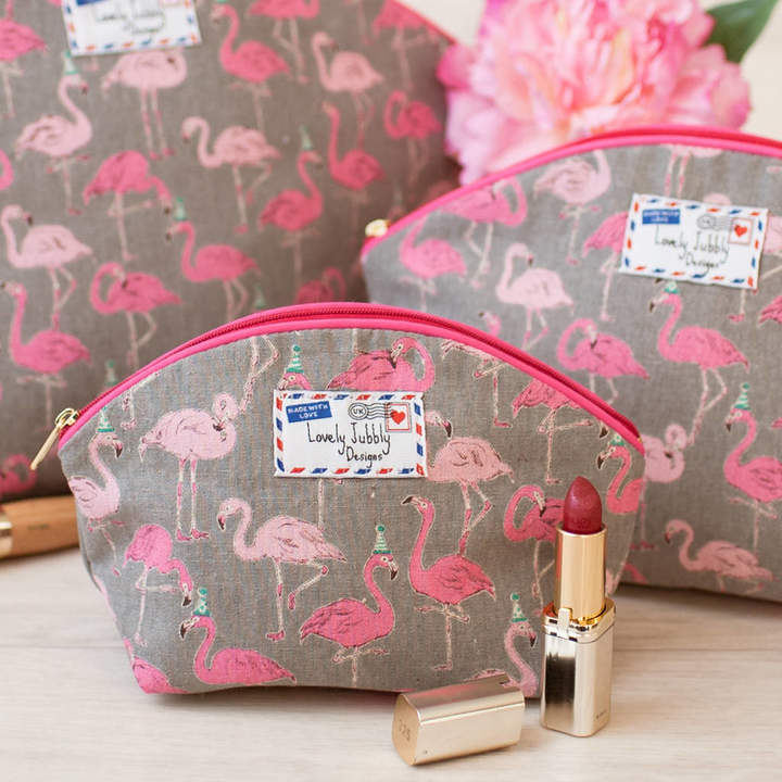 Lovely Jubbly Designs Flamingo Gift Flamingos Party Makeup Toiletry Wash Bag